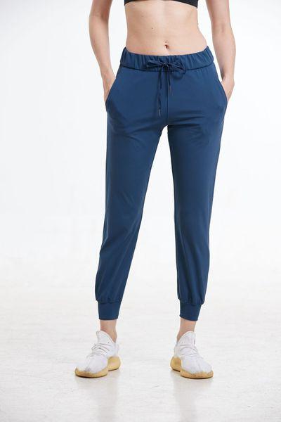 top popular High Waist Yoga Pants Sport Women Quick Dry Pants Women's Drawstring Sportswear Woman Gym Sports Casual Loose Fitness Running Pants 2020