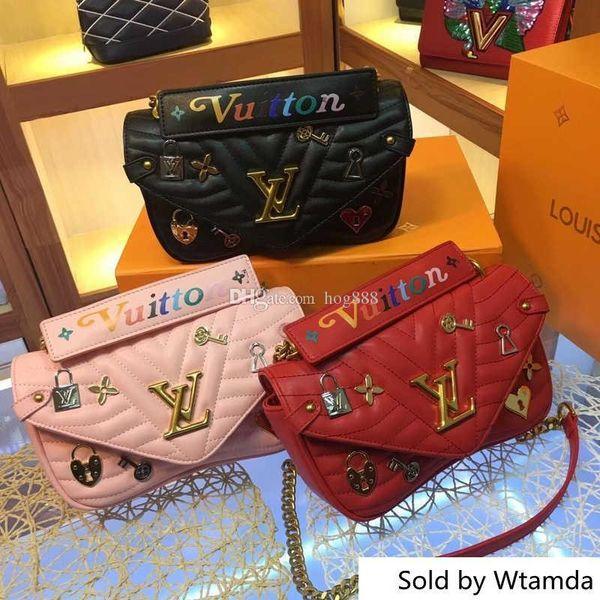 Handtaschen Für Frauen New Wave 51930 Echtes Leder Große Damen Umhängetasche Eimer Geldbörse Modemarke Leder Große Kapazität Top-ha