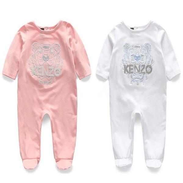 Col rond manches longues bébé vêtements mode brodé sac de vêtements nouveau-né ha utilisé pour les vêtements de pied de voyage
