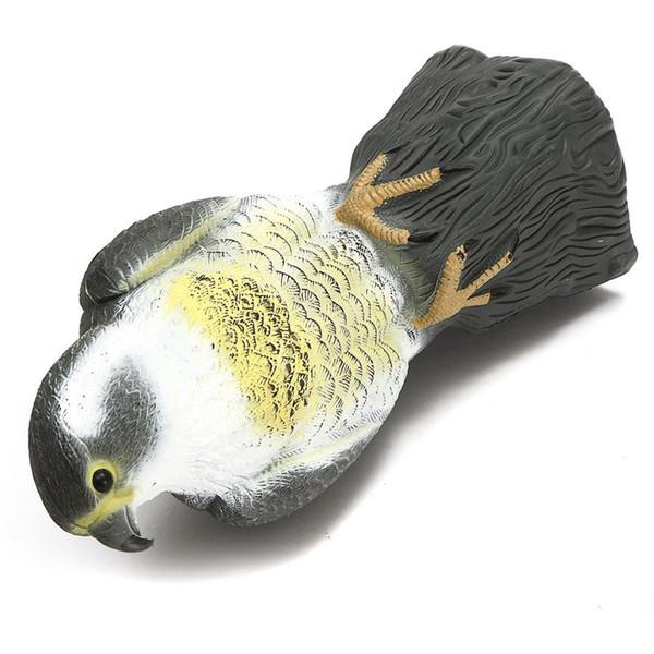 Al por mayor-Vuelo del pájaro Sparrow Hawk para la paloma Señuelo de caza Jardín Planta Scarer Pest Control decoración del jardín d señuelos