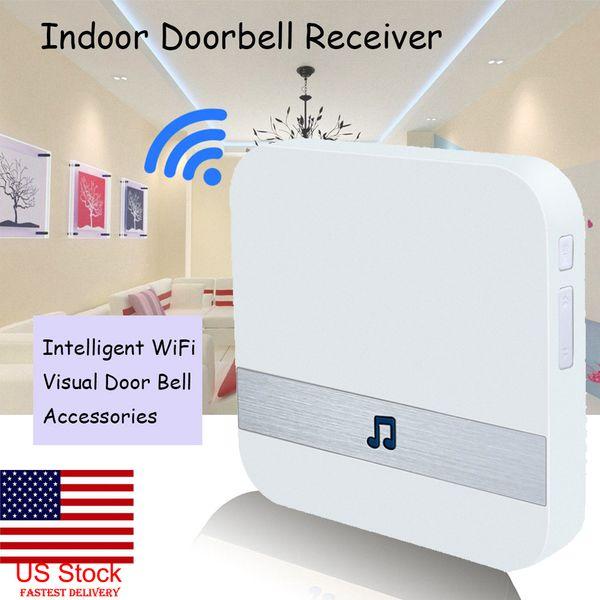 top popular Indoor DingDong Chime For Smart Wireless 52 Polyphonic Ringtones Doorbell Indoor Receiver 0-110 Decibels Video Camera Doorbell 2021