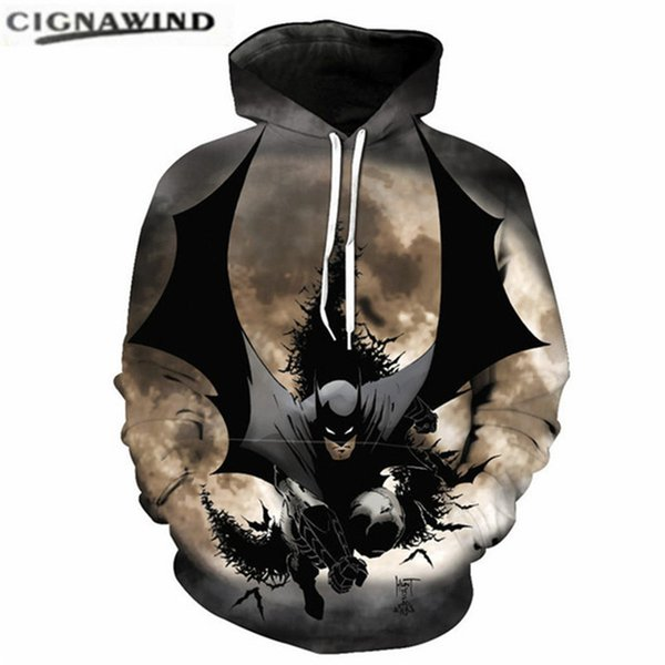 quality design 11ab2 b0a5a Großhandel Neue Coole Film Batman 3D Gedruckt Hoodie Sweatshirts Männer /  Frauen Pullover Herren Hoodies Mode Hip Hop Streetwear Lustige ...