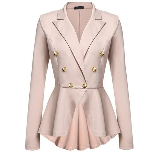 Womens Fashion Slim Jackets Ladies Office Jacket Female Solid Button Elegant Coats Spring Autumn OL Outfits