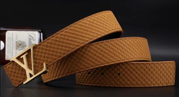 Nouveau 20 Marque modèle hommes ceintures pour et cuir d'affaires Célèbre hommes de luxe ceinture mode grand logo boucle Casual Ceinture Taille Sangle Avec boîte