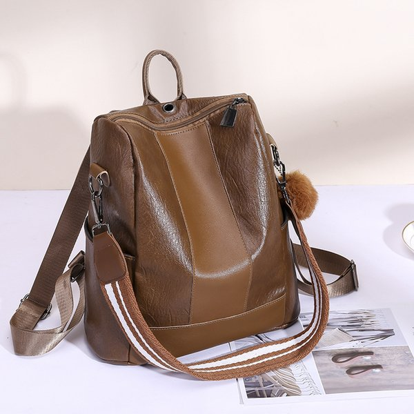 Women Three Ways Leather Backpack Multipurpose Venonat Shoulder Bag Women Outdoor Sport High Capacity Handbag LLA414