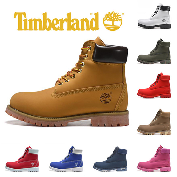 release date superior quality get new Timberland Brand Yellow Boots luxury designer Mens boots Military Women  Triple Black White Camo leather ankle fashion sports sneaker 36-45