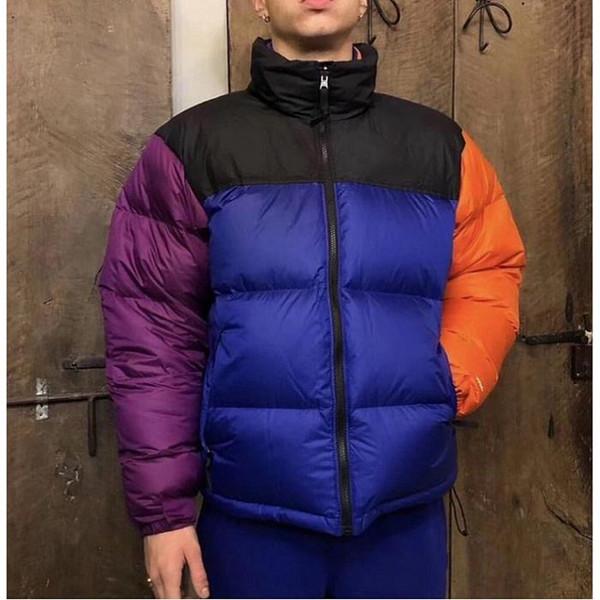 designer men winter parkas streetwear fashion loose couple coat t f white duck down vintage luxury stand collar down jacket size s-xl