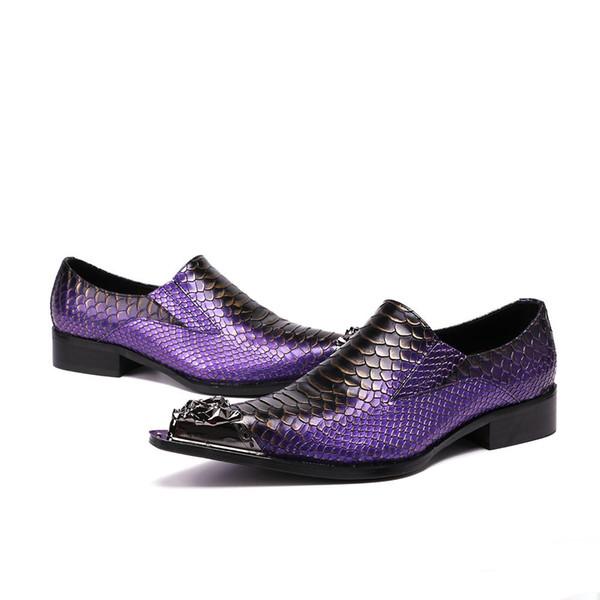 2019 Italian Fashion Men Shoes Iron Toe Formal Men Dress Shoes Genuine Leather Party Wedding Shoes Men zapatos de hombre, Big Sizes US38-4