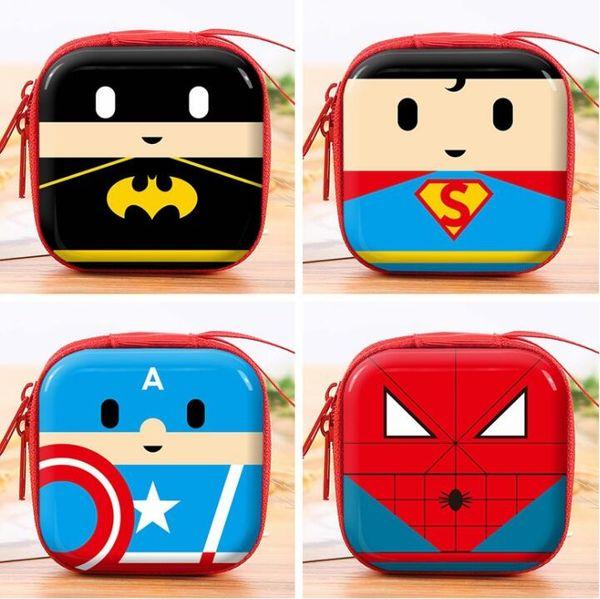 Portamonete in silicone Cartoon Kawaii Super Hero Capitan America Borsa portamonete Anime Mini Portafoto Portafoto con cerniera Porta regalo per bambini