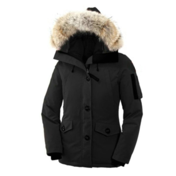 Winter Jacket For Women High Quality MonteBello Parka Wolf Fur Hooded Down Coat Button Street Style Ladies Bomber Jacket