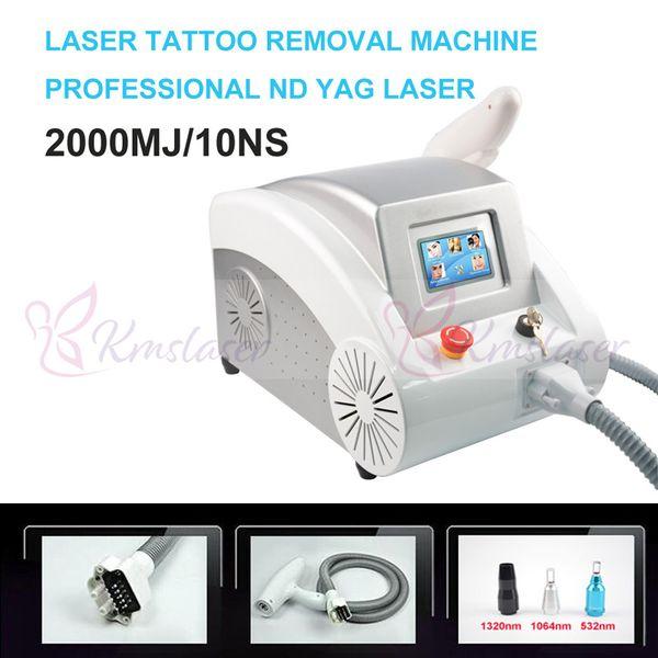 Prix d'usine !!! Machines de retrait de tatouage Écran tactile Q commuté ND YAG laser beauté machine soins de la peau Scar acné Enlèvement