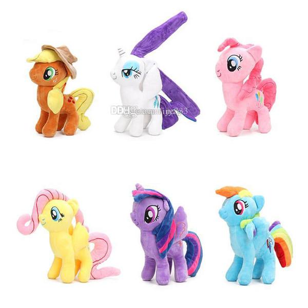 Pony Toys Neue Freundschaft ist Magic Unicorn Puppe Prinzessin Rainbow Dash Pinkie Pie Fluttershy Pony Plüsch Puppen lol
