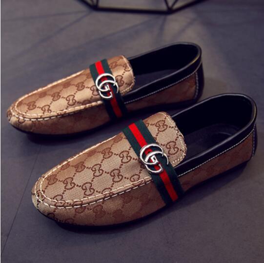 Nueva marca de lujo estilista zapatos casuales hombres diseñador diseñador diapositivas, zapatilla de fumar, mens oxford zapatos casuales G2.64