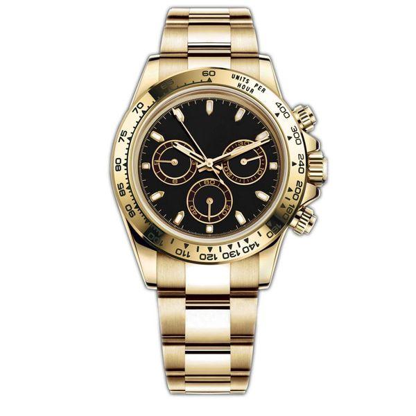 top popular 18 color Mens Watches 116500LN Watch Montre De Automatic Wristwatches Stainless Bezel 316L Steel Adustable Folding Buckle 2021