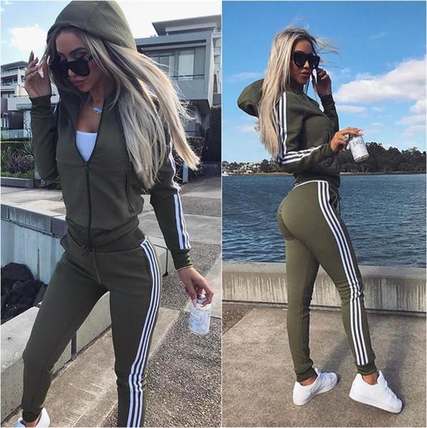 Sıcak Satış Uzun Kollu kadın Eşofman bahar tarzı ter gömlek Baskı eşofman kadın Pantolon Hırka Bayan set Kadınlar Spor Suits Tops
