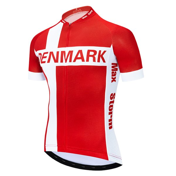 2019 Denmark New Team Cycling Jersey Customized Road Mountain Race Top max storm Reflective zipper 4 pocket