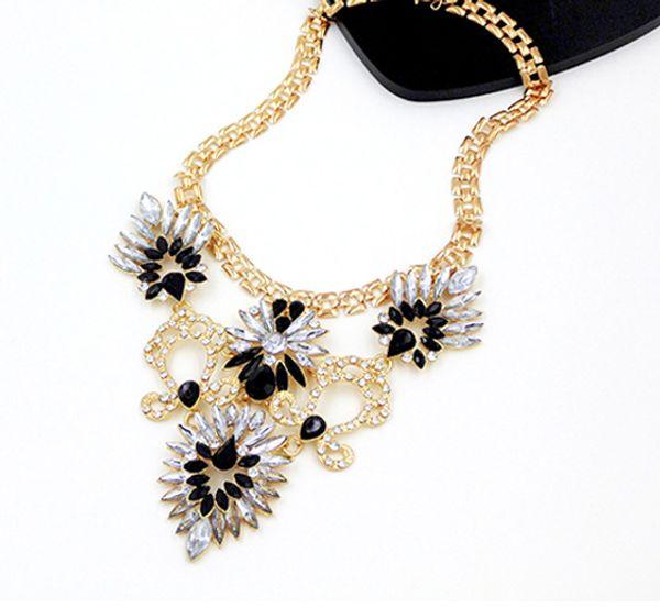 New Women's Vintage Rhinestone Western Style Chunky Chain Statement Pendant Necklace yan728