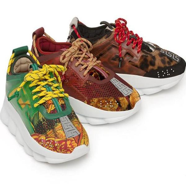Chaîne réaction amour chaussures de sport dames hommes rouge noir poids chaîne lien designer mode casual chaussures
