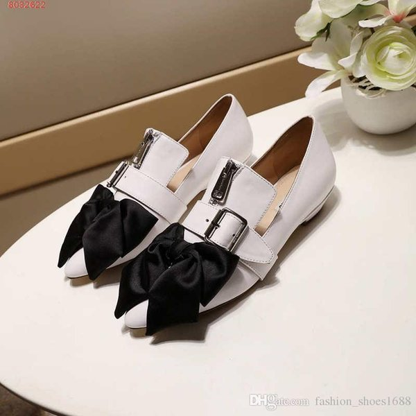 Women Genuine Leather Horsebit loafer, Designers Flats bow-knot Mules Fashion Outdoor Sandals Spring Collection for Ladies Size 35-39