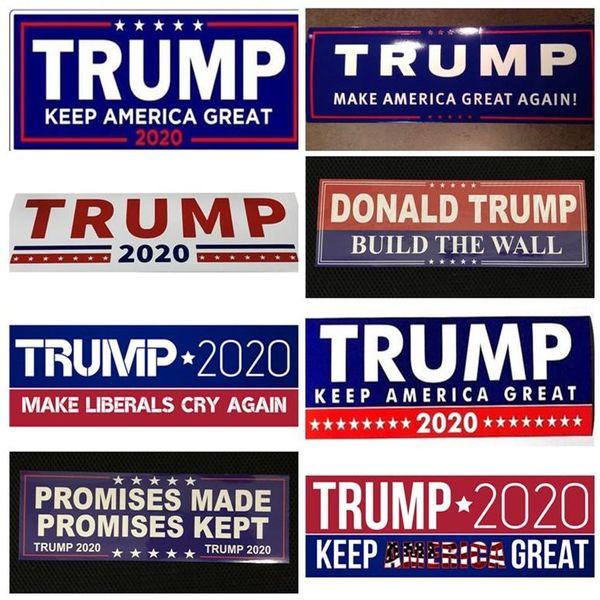 Trump 2020 adesivos de carro 7.6 * 22.9 cm adesivo bandeira manter fazer fazer américa grande decalque para carro styling veículo paster dhl eea72