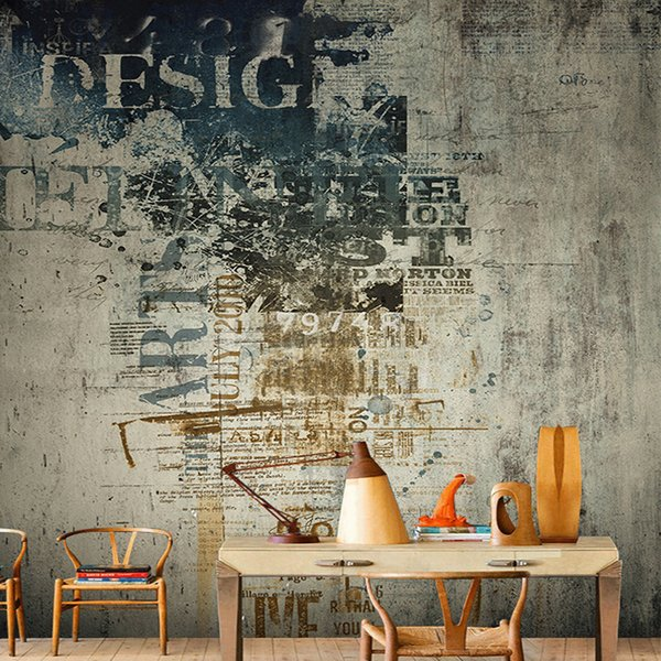 Customized Size 3d Retro Graffiti Dilapidated Wall Photo Mural Wallpaper For Bedroom Living Room Background Non Woven Wall Paper Wallpaper Magazine