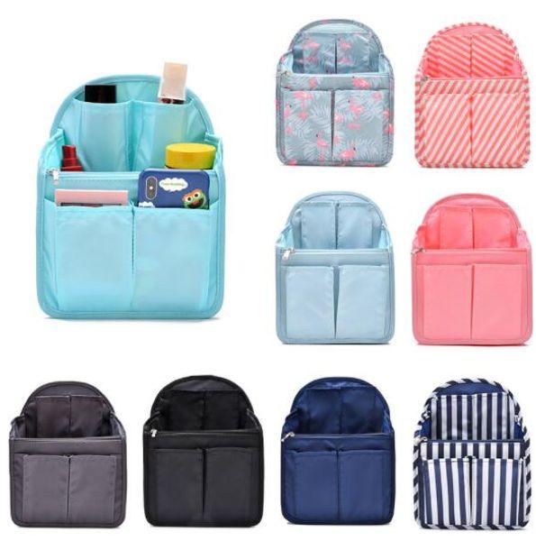 DHL Dual Bag In Bag Women Insert Handbag Organizer Purse Makeup Case Storage Liner Bag Tidy Travel Insert Storage Bags