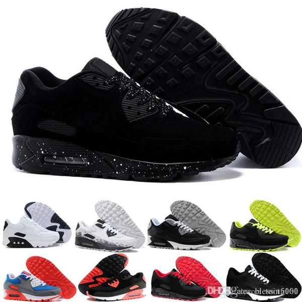 nike air max 90 airmax  2018 Venta Caliente Cushion Men Running Shoes Hombres Zapatillas de deporte de Alta Calidad Nuevas Calzado Deportivo Tamaño 40-45