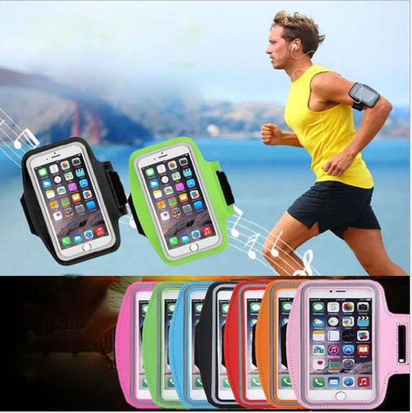 Universal Cell Phones Arm Bag Band 5.5 inch Sports Running Armband Bag Case Waterproof Armband Holder Pounch for iPhone6 7 8 Plus