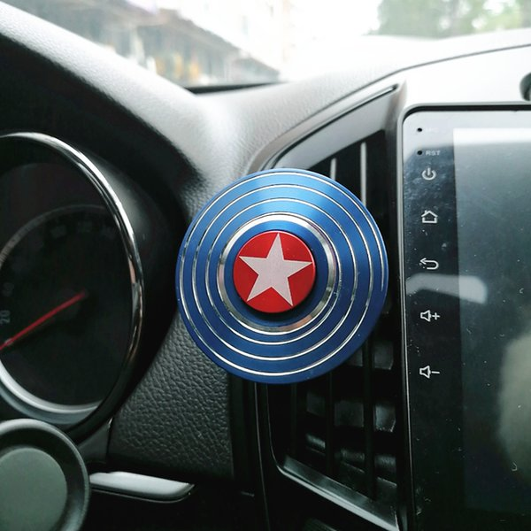 Hand Spinner Air Freshener Clip Car Styling Perfume For Air Condition Vent The Avengers Marvel Spiderman Ironman Captain Fans