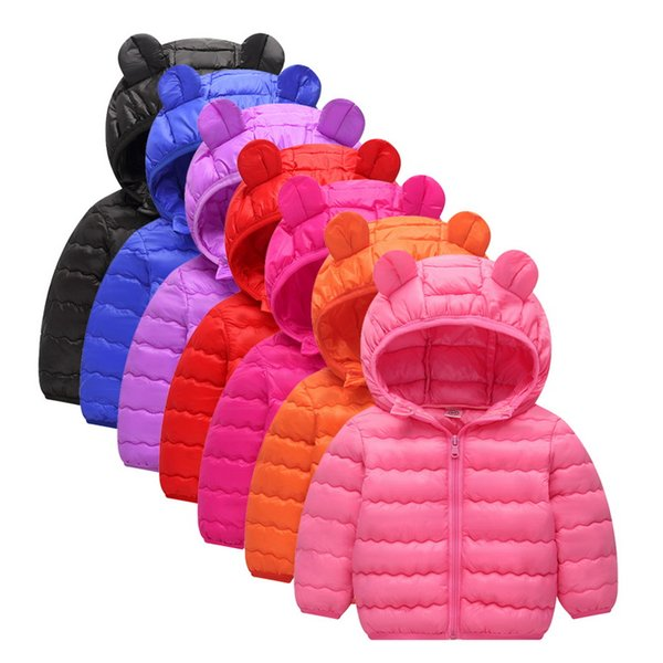 CALOFE Boys Girls Warm Down Parkas Jackets Autumn Winter Cotton Coats Baby Kids Hooded Outerwear Coat Children Thermal Clothes