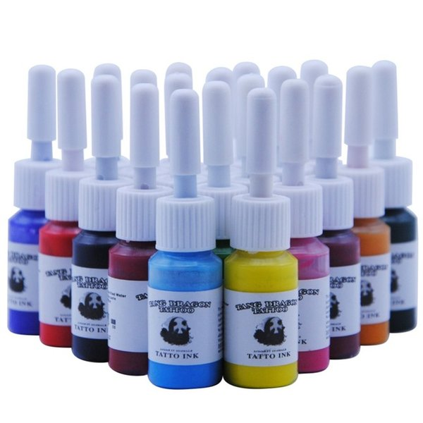 Tattoo Ink Pigment Set Kits Body Art Tattoo 5ml Professional Beauty Permanent Makeup Paints Supplies 20 Colors/Bottles