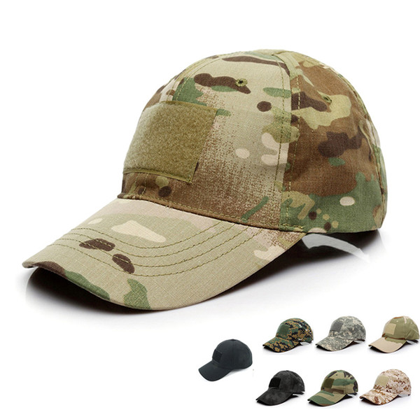 100% cotton multicam camo baseball cap camouflage custom outdoor sports shaded soft hat snapbacks for men and women thumbnail