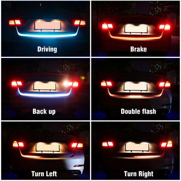2019 Car Lights Decorative Lamp Okeen120cm Car Trunk Strip Iceblue Flowing Strip Turn Signal Light Amber Brake Red Driving Led Light From Lkmwdkawx
