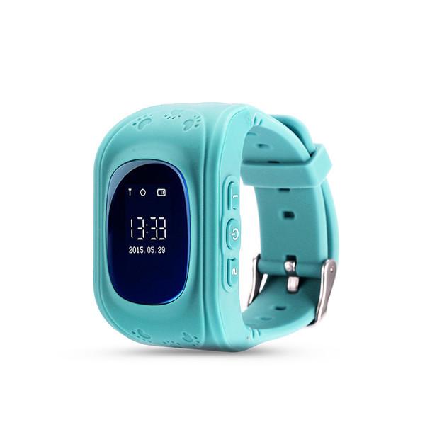 Anti perso Q50 OLED GPS Tracker SOS Smart Watch Monitoraggio Posizionamento Phone Bambini GPS Baby Watch per IOS Android da polso