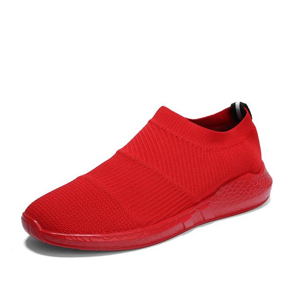 2019 New Light Gym Sport Chaussures Homme Fitness Chaussures de stabilité athletic Formateurs Rouge Chaussures de tennis Formateurs bon marché pour adultes