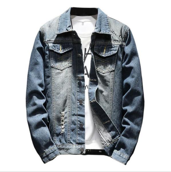 New Designer Men Denim Jackets Jacket Luxury Embroidered Motorcycle Clothing Boy Girl Youth Hip Hop Street Clothing Hole Decoration Teens Men
