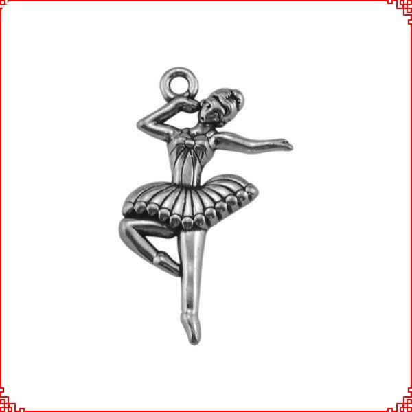 30pcs Antique vintage Tibetan silver ballerina dancer charms metal dangle alloy pendants for necklace bracelet earring diy jewelry making