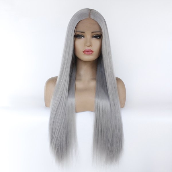 synthetic wigs cheap synthetic lace front wigs heat resistance long straight hair for blacks fast free shipping simulation human hair wigs