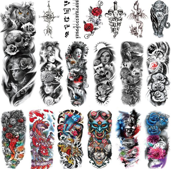 Meeyou Women Men Unisex Waterproof Temporary Tattoos Stickers Body Art Fake Tattoos Transfer Stickers Sexy Arm Stickers Removable Qt0002 Axl Rose