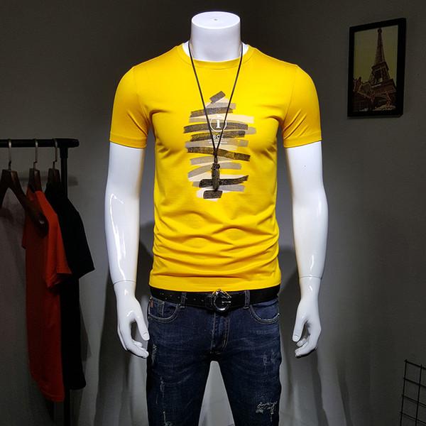 Mercerized Cotton Short-sleeved T-shirt for Men in Summer