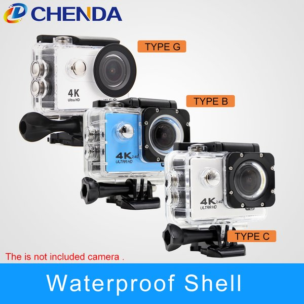 4000 parts Sports Action Camera Parts 4000 5000 9000 4K 9/9 8/8R H3/H3R F60 go pro Accessories Waterproof shell Helmet Case