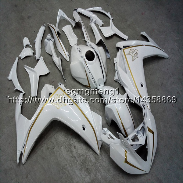 Gifts+ScrewsInjection mold white motorcycle panels for Yamaha YZF-R25 2015 2016 YZFR3 15-16 Bodywork Set ABS Plastic Fairing