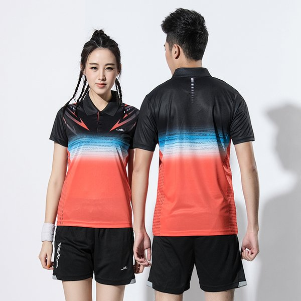 2019 NEW New Badminton wear sets Men, Women sports badminton clothes , Badminton suits ,Tennis clothes , Tennis shirts + shorts 2615