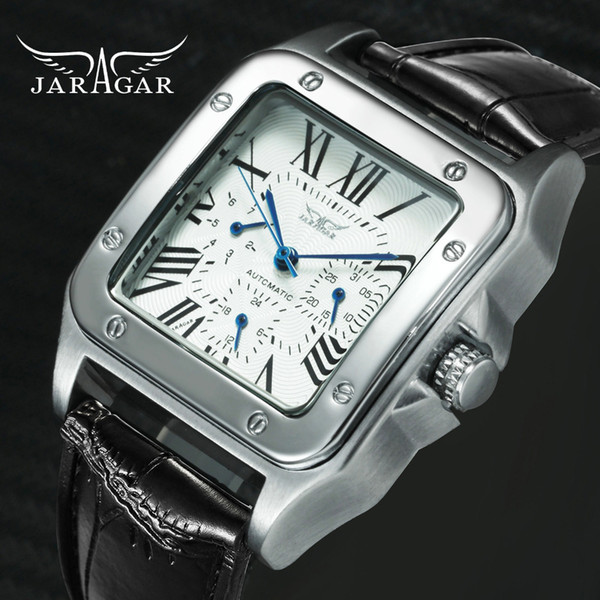 Jaragar Top Brand Luxury Watches For Men Women Unisex Automatic Mechanical 3 Working Sub-dials Fashion Dress Wrist Watch Man MX190725