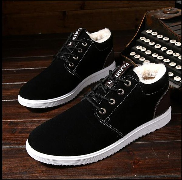 Плюс утолщение осень зима открытый досуг мужские ботинки теплые инструменты хлопчатобумажные ботинки Англия сапоги мужские ботинки снегоступы