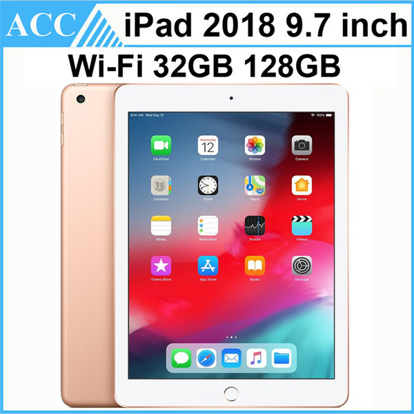 top popular Refurbished Original Apple iPad 2018 9.7 inch 6th Gen WIFI Version A10 Fusion Chip Quad Core 2GB RAM 32GB 128GB ROM Tablet PC DHL 1pcs 2020
