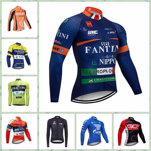 2019 FANTINI Gazprom EUSKALTEL team Cycling long Sleeves jersey Hot NewMulti Types Ropa De Ciclismo Anti-UV Cheap W30809