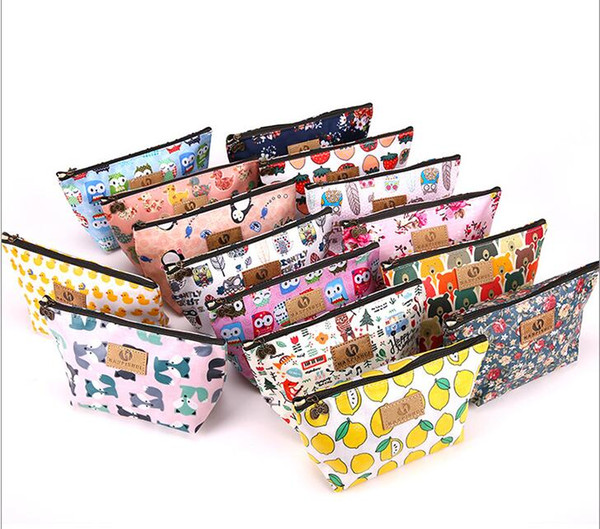 15 Style Waterproof Print fabric cosmetic Canvas Pencil Bag Cases Stationery Storage Organizer Bag School Office Supply Kids Gift