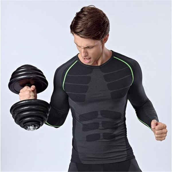 Selling new fitness trousers T-shirt suit high elastic comfort for men's professional comprehensive training fitness fast drying