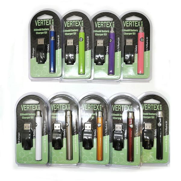 Vertex Preheat Battery Kits VV Preheating starter kit co2 Oil vape Vaporizer Vape Pen 510 Vape Adjustable variable voltage 350mah Cartridge